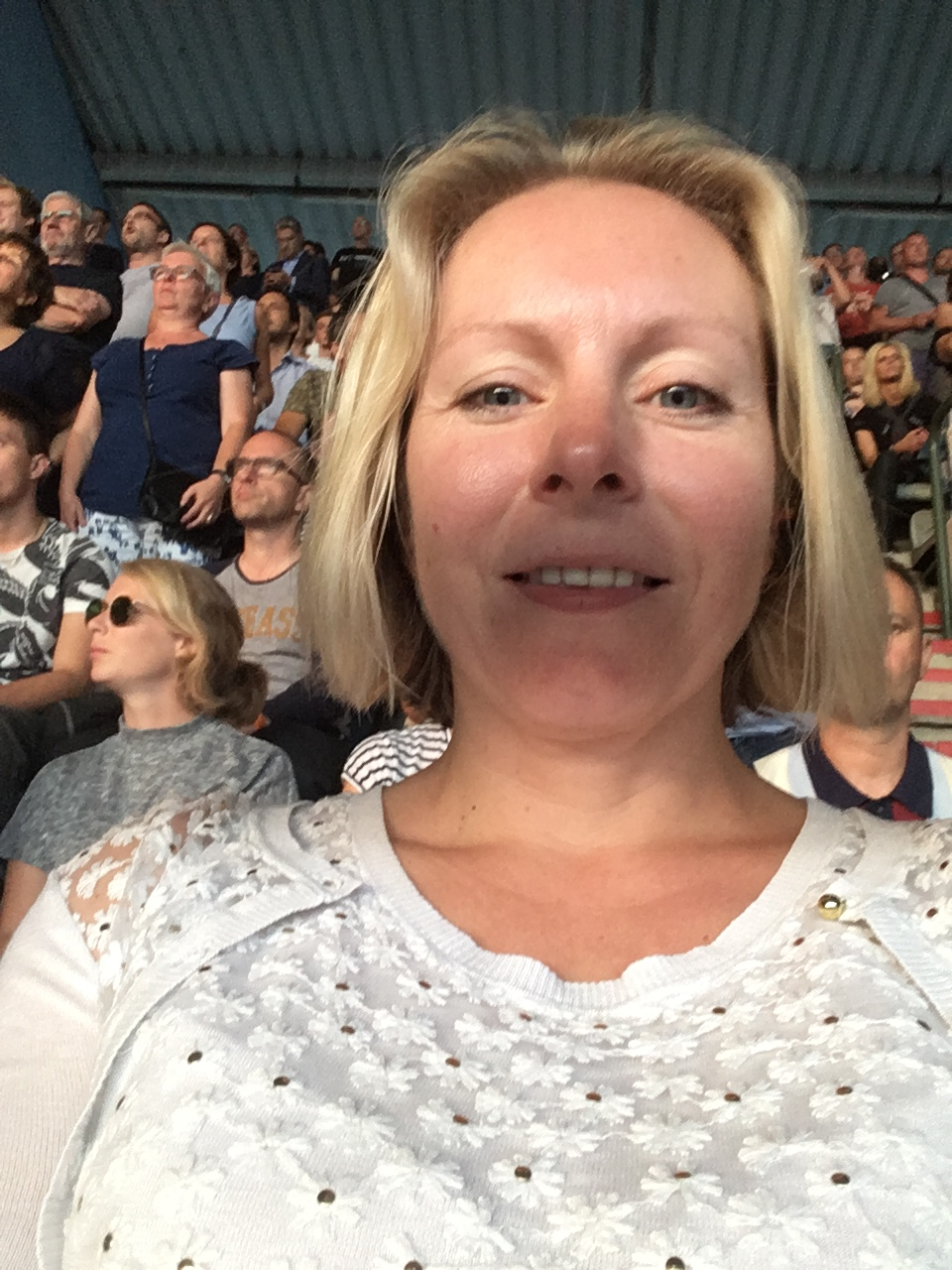 Fiona at U2 concert in Heysel, Brussels