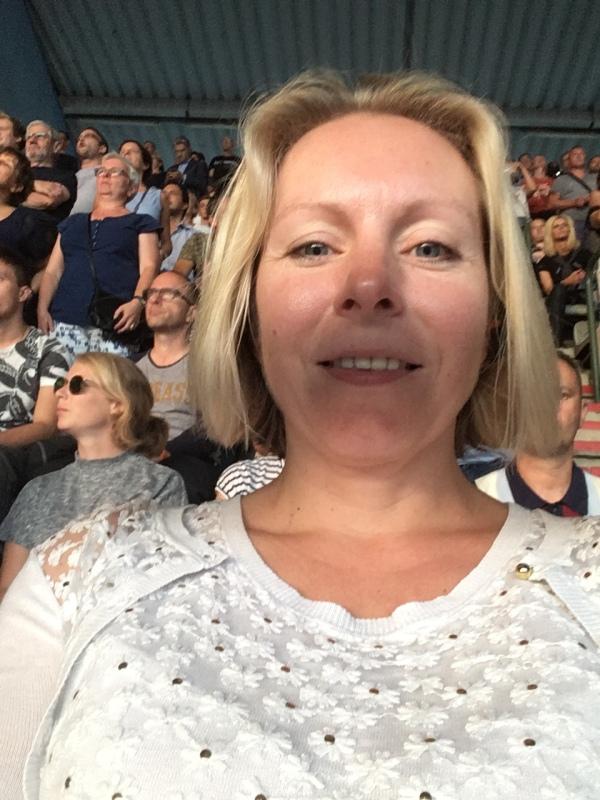 Fiona at U2 concert in Heysel, Brussels