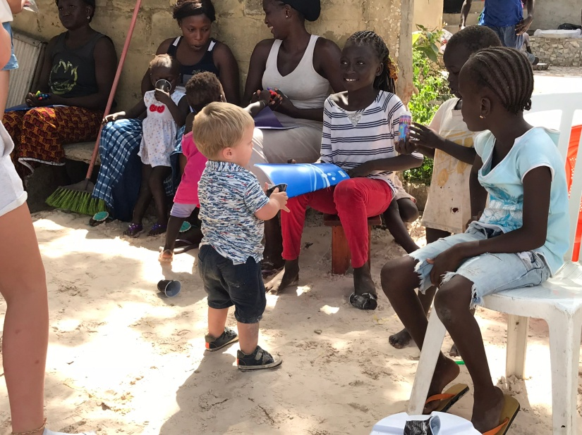 Feeling like cowboys in Senegal#travelwithkids